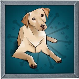 ilustrace labradora