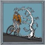 Bajker a mrtvý strom